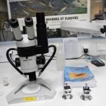 Matériel et binoculaires 6 à 160x pour la détermination des IBGN, IBGA et IBG-DCE