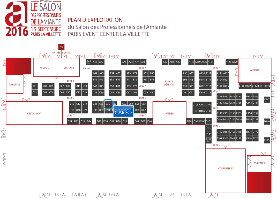 Carso au salon de l amiante 2016 groupe carso for Salon porte de la villette