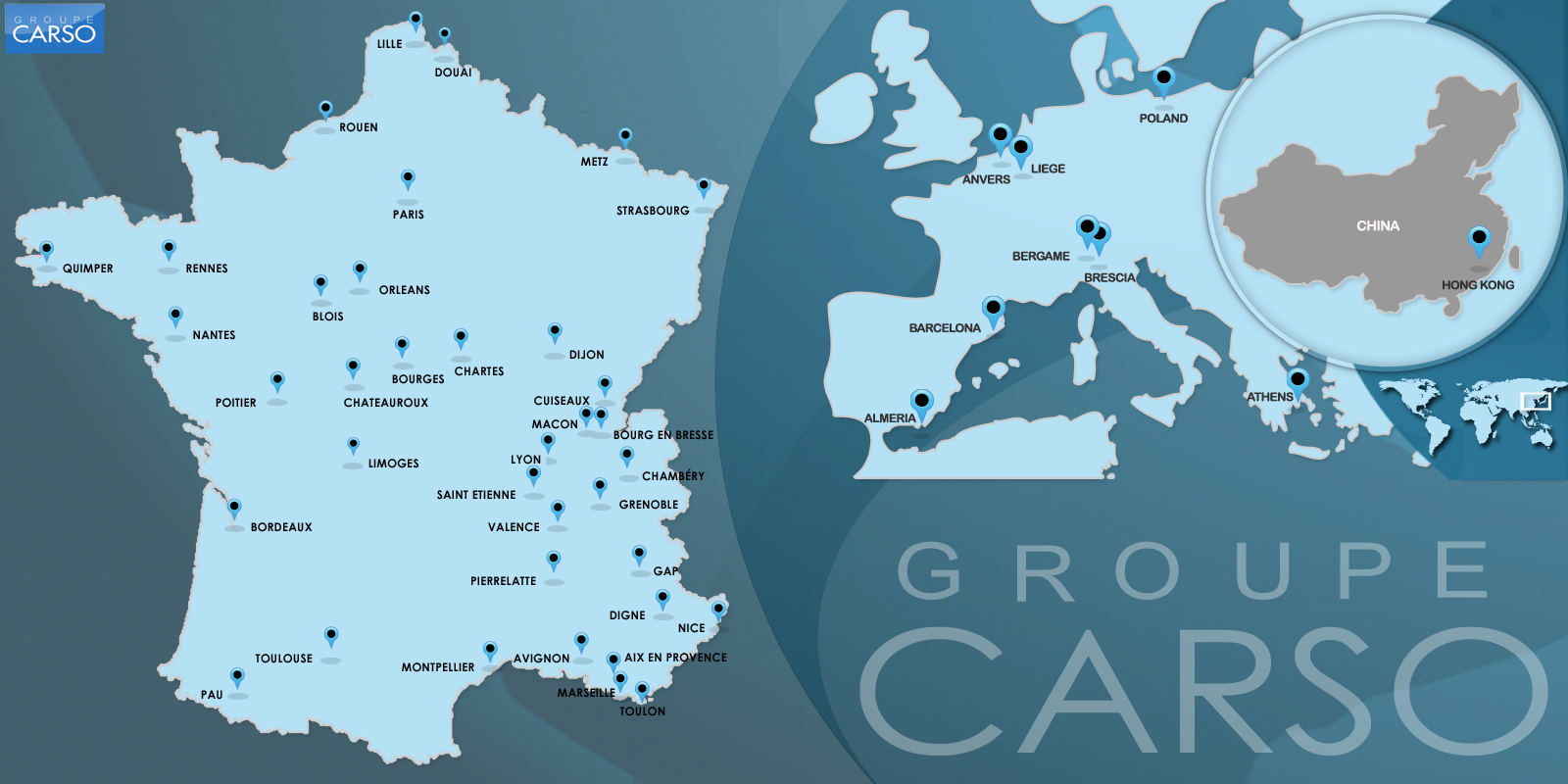 Implantations Groupe Carso